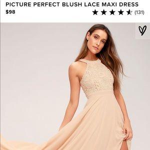 BNWT Blush Lace Maxi Dress